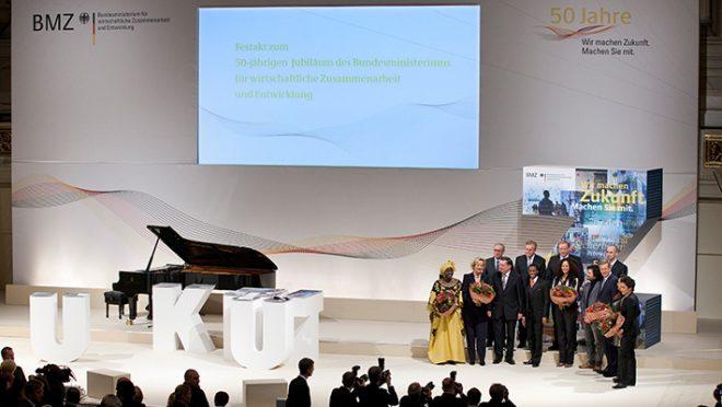 Festakt zum 50-jährigen Jubiläum <br>des Bundesministeriums für wirtschaftliche <br>Zusammenarbeit und Entwicklung (BMZ)